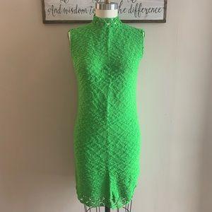 VTG St. John Knits Green Mod Dress